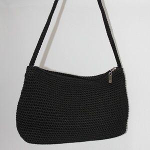 The SAK Black Crocheted Shoulder Bag